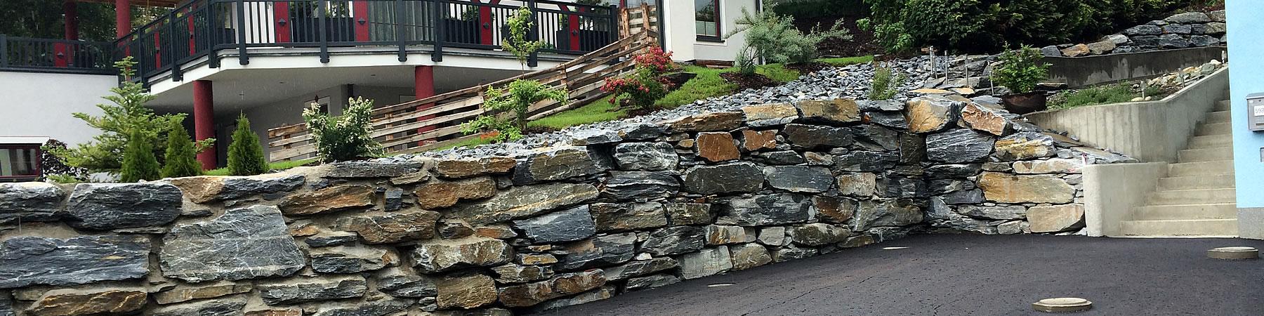 natursteinmauer korbsteinmauer und hangbefestigung. Black Bedroom Furniture Sets. Home Design Ideas